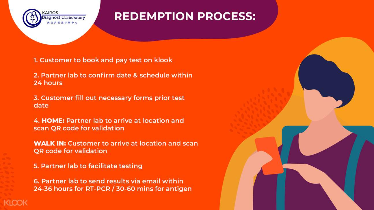 Redemption Process for RT-PCR and Rapid Antigen Home Testing on Klook